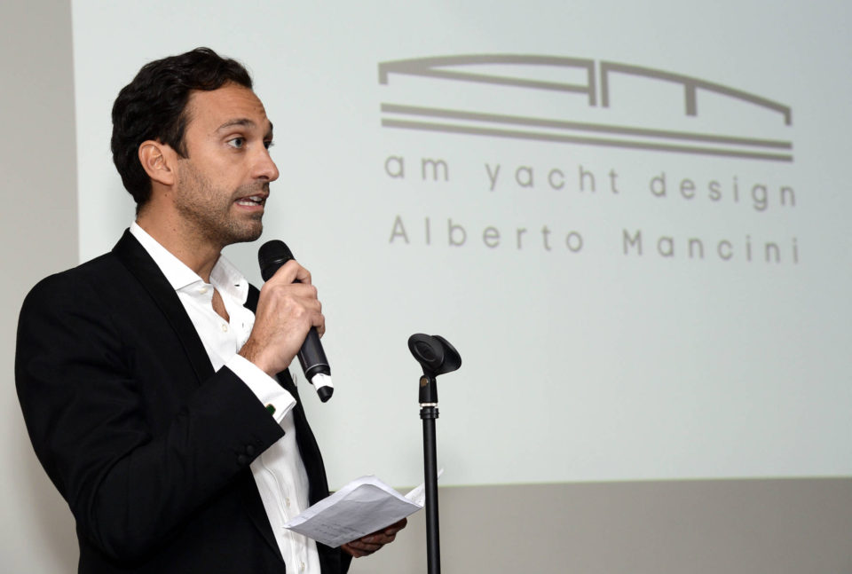 Alberto Mancini of AM Yacht Design at the Yacht Investor Ultra High Net Worth Winter Soirée