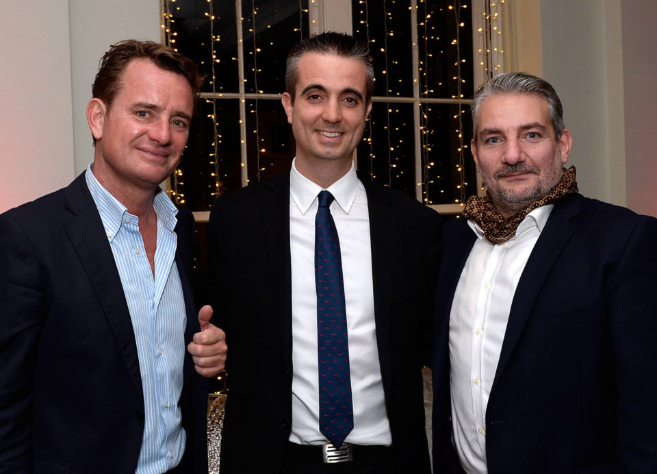 Our host Xavier Calloc'h of Investor Media (right) with Justin Highman of Monaco Invest (centre) and Andrea Dini of Investor Media Monaco (left)