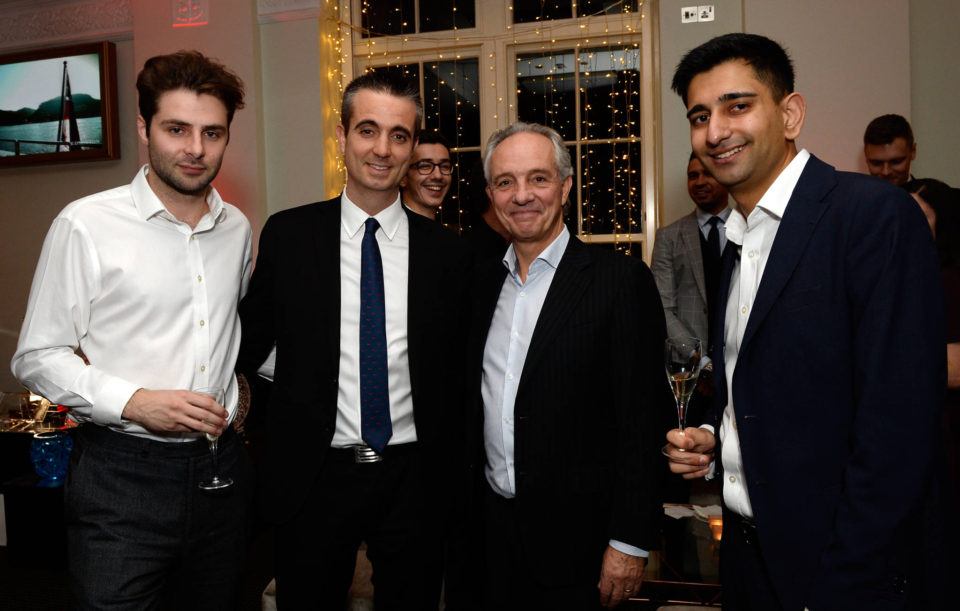 Robert Raymond with Justin Highman of Monaco Invest (Monaco Economic Board) at Yacht Investor - Ultra High Net Worth Winter Soireé
